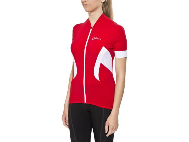 Gonso Febe Kortærmet cykeltrøje Damer rød | Jerseys